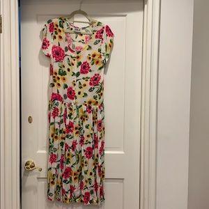 Vintage 90s floral dress Bila